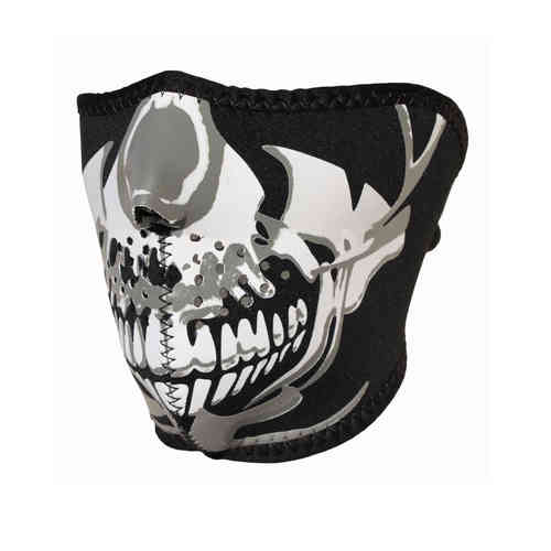 """Chrome Skull"" 1/2 Neopren Face Mask"