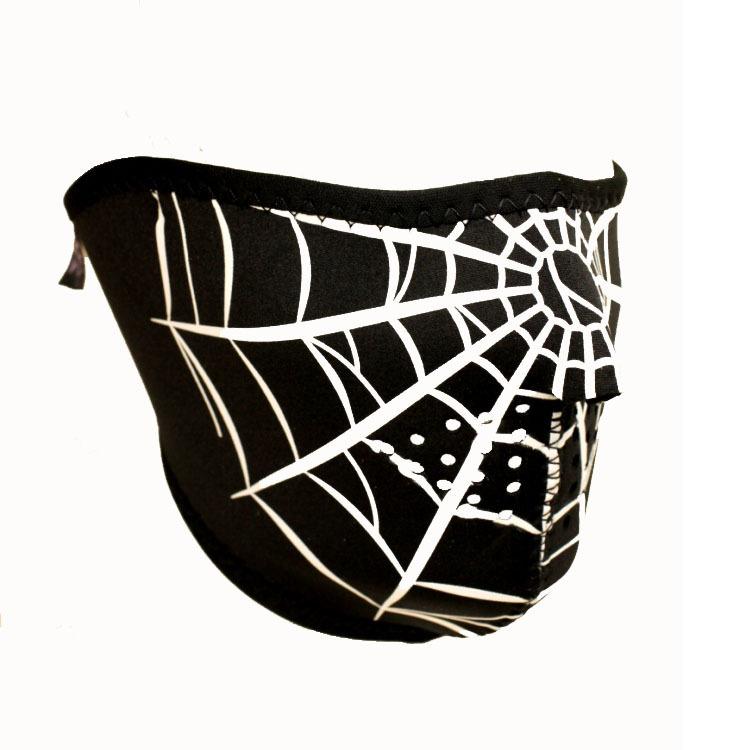 Face Mask Spider Spinne Netz Halb Gesichtsschutz Maske Sturmhaube Schutzmaske