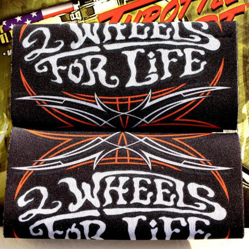 """2 Wheels For Life"" Throttle Grip - Griff Cover"