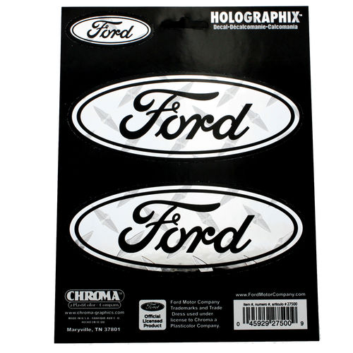 """Ford Holographic Treadplate Chrom"" - Aufkleber/Decal"