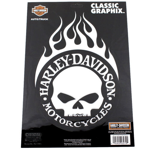 """Harley Davidson Willie Chrom"" - Aufkleber/Decal"