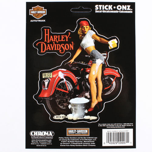 """Harley Davidson Shine`er Up"" - Aufkleber/Decal"