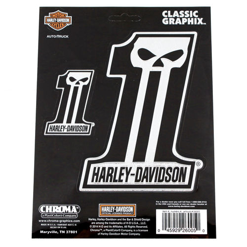"""Harley Davidson Dark #1 Chrom"" - Aufkleber/Decal"