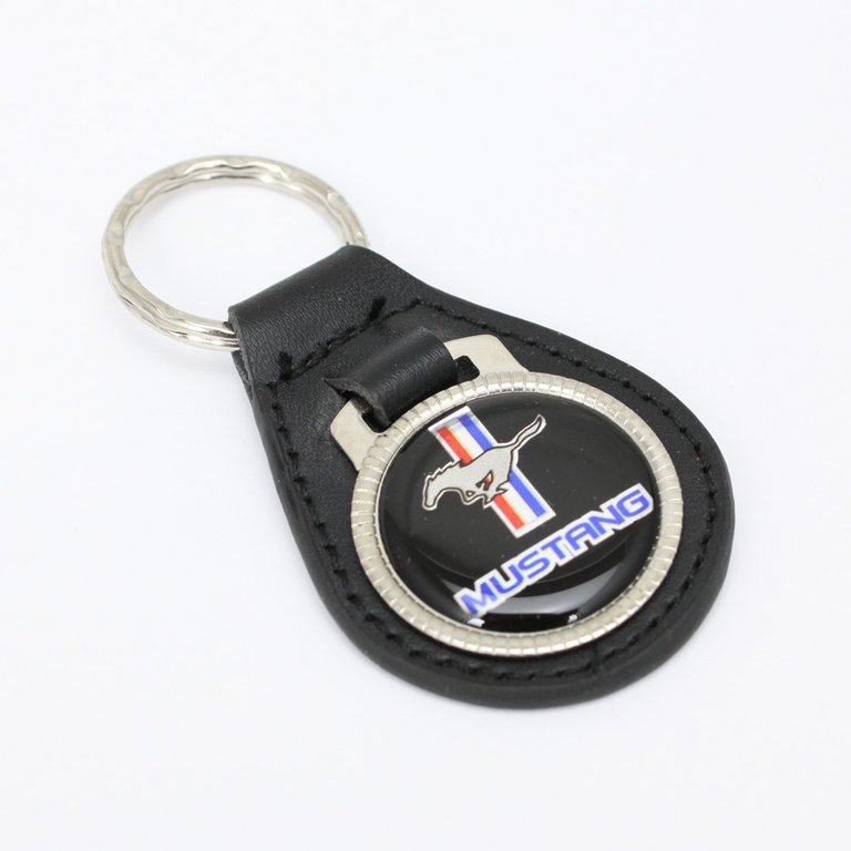 ford mustang pony logo key fob echt leder. Black Bedroom Furniture Sets. Home Design Ideas