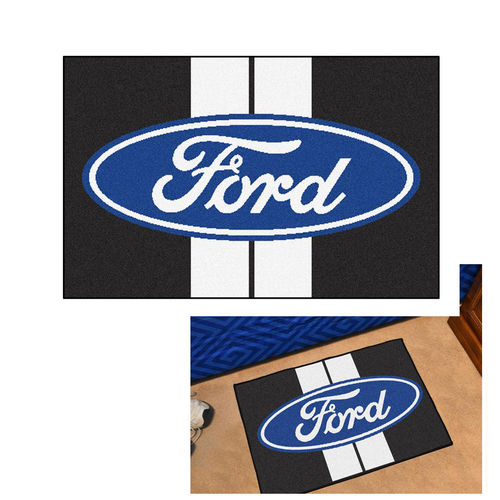 """Ford Oval with Stripes"" Starter Mat - Teppich Vorleger"