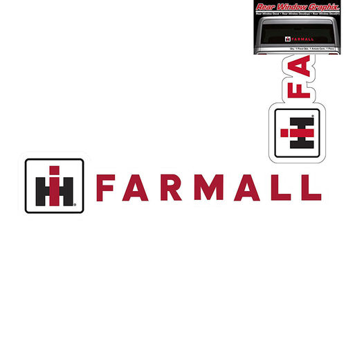 """International Harvester Farmall"" - Heckscheibenaufkleber/Decal"
