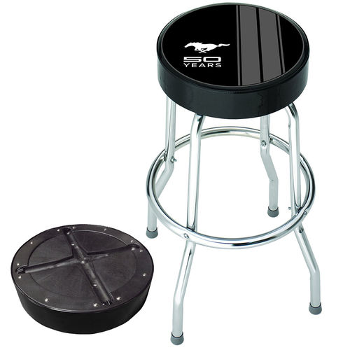 """Ford Mustang 50 Years"" Garage Stool - Barhocker"