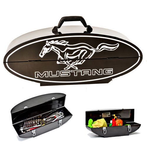 """Ford Mustang Oval Shaped Black""  Steel Toolbox - Werkzeugkiste"