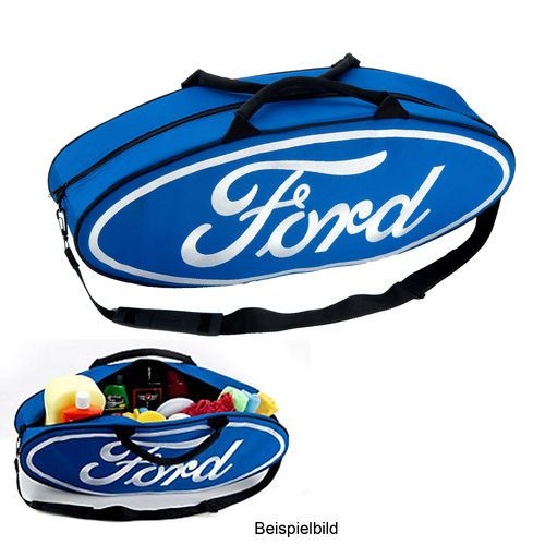 """Blue Ford Oval Shaped""  Canvas Tote Bag - Tasche"
