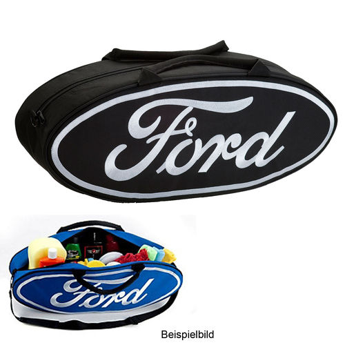 """Black Ford Oval Shaped""  Canvas Tote Bag - Tasche"