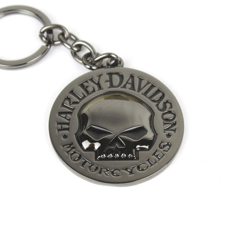 harley davidson willie g skull totenkopf key chain. Black Bedroom Furniture Sets. Home Design Ideas