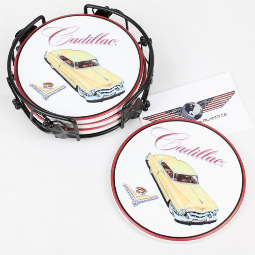 """1953 Cadillac Eldorado"" Ceramic Drink Coaster Set - Untersetzer"