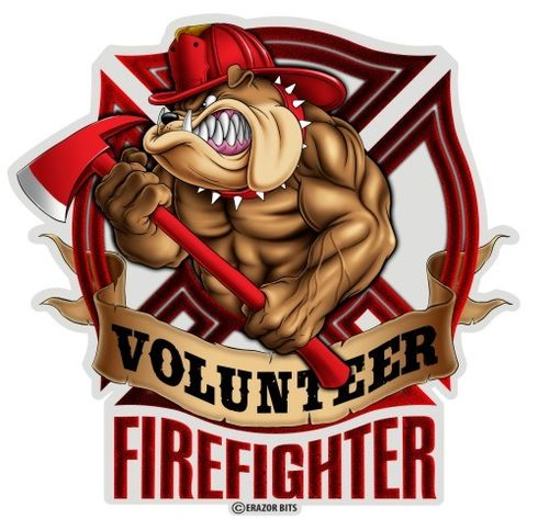 """Fire Volunteer Dog"" Decal - Aufkleber"