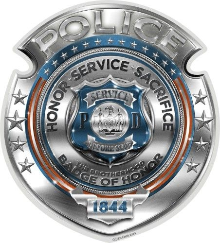 """Police Honor Courage Sacrifice Badge"" Decal - Aufkleber"