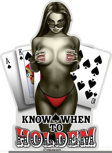 """Poker Know When To Hold Them"" Decal - Aufkleber"
