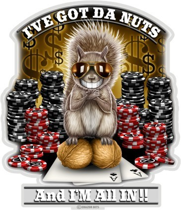 """Poker Got The Nutz"" Decal - Aufkleber"