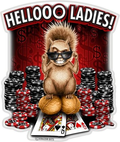 """Poker Hello Ladies"" Decal - Aufkleber"