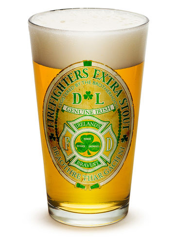 """Firefighter Irelands Bravest"" Pint Glass - Glas"