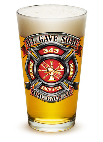"""Fire Honor Courage Sacrifice 343"" Pint Glass - Glas"