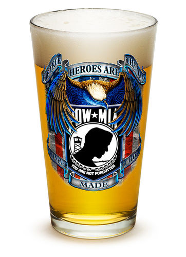 """POW True Heroes"" Pint Glass - Glas"