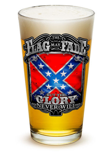 """Rebel Glory Stars and Bars"" Pint Glass - Glas"
