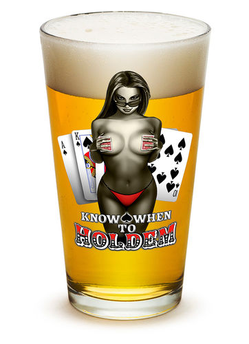"""Know When To Hold Them"" Pint Glass - Glas"