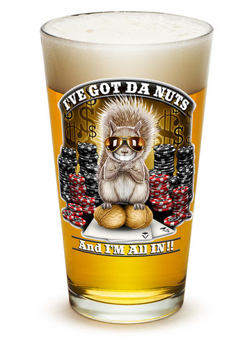 """I got the Nutz"" Pint Glass - Glas"