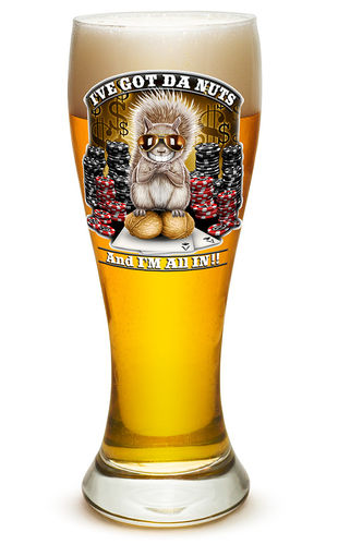 """I got The Nutz"" Pilsner Glass - Glas"