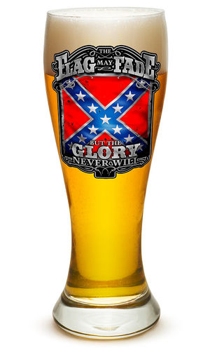 """Rebel Glory Stars and Bars"" Pilsner Glass - Glas"