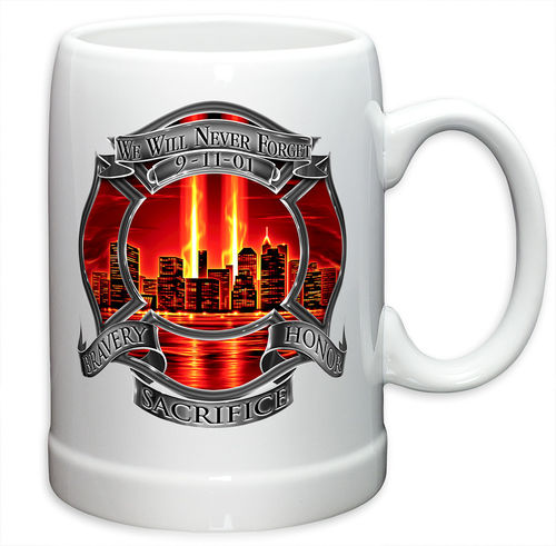 """Firefighter Red Tribute High Honor"" Stoneware Mug - Krug"