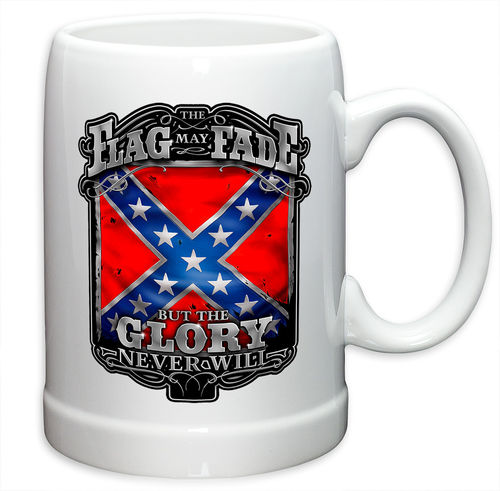 """Rebel Glory Stars and Bars"" Stoneware Mug - Krug"