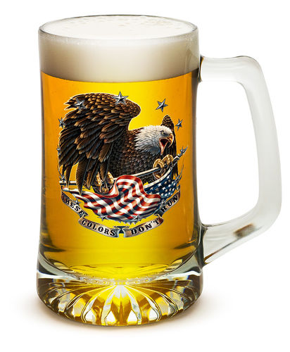 """These Colors Don`t run"" Tankard Glass - Bierglas"