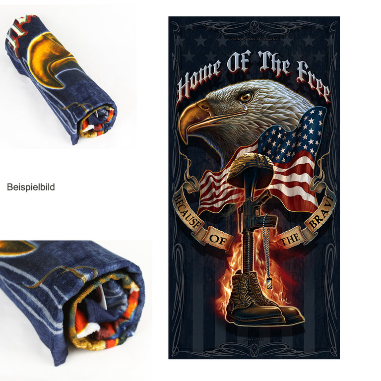 """Home of the Free"" Towel - Handtuch"