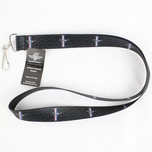 """Ford Mustang Tri Bar Repeat"" Lanyard - Schlüsselband"